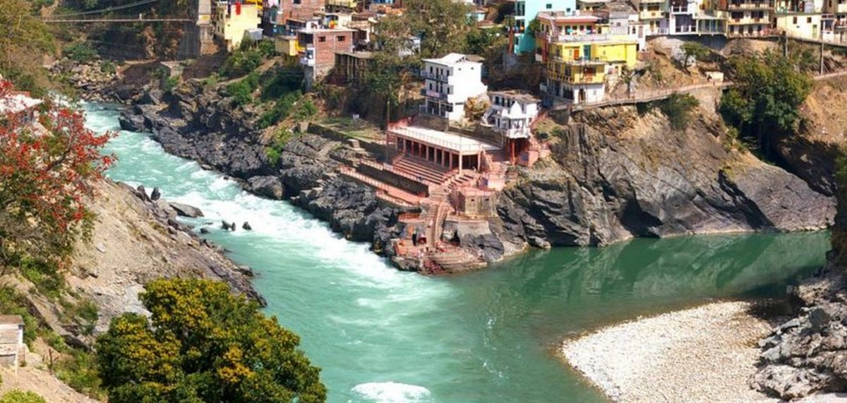 Devprayag - confluence of two rivers